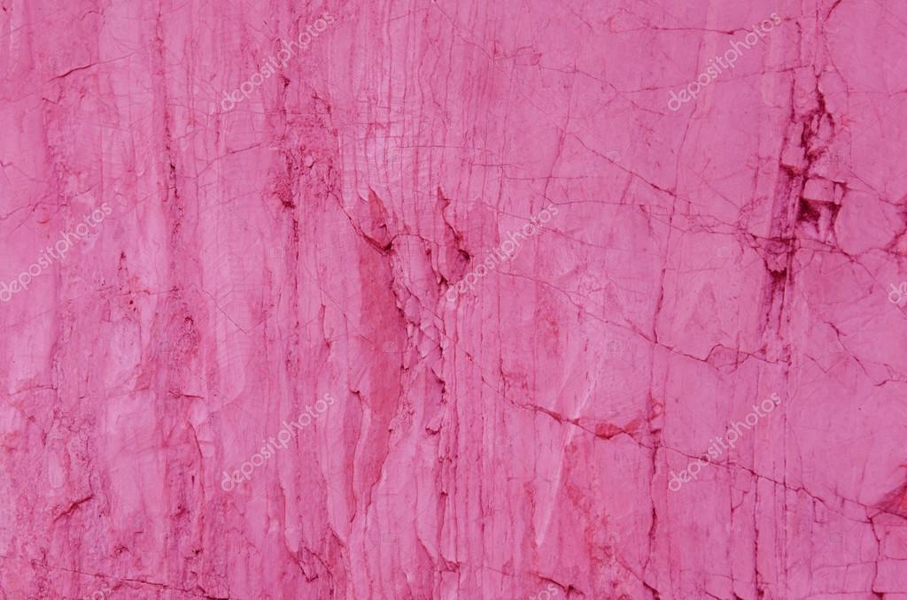 粉红色的石头纹理,颜色的大理石背景墙上– 图库图片