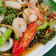 Stir fried seafood — Stock Photo