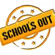 Stock Photo: Stamp - school's out