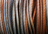 Rusty wire ropes — Stock Photo