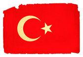 Grungy Flag - Turkey — Stock Photo