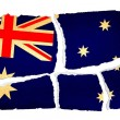 Stock Photo: Grungy Flag - Australia