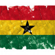 Stock Photo: Grungy Flag - Ghana