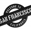 WELCOME TO SAN FRANCISCO — Stockfoto