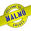 Welcome to Malmö — Stock Photo