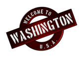 WELCOME TO Washington — Stock Photo