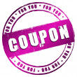 New Stamp - Coupon — Stock Photo