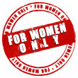 New Stamp - For Women only — Stock Photo