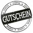 New Stamp - Gutschein — Stock Photo
