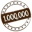 New Stamp - 1.000.000 — Stock Photo