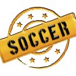 Stamp - soccer — Stock Photo