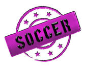Stamp - soccer — Stock Photo