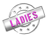 Stamp - ladies — Stock Photo