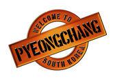 WELCOME TO Pyeongchang — Stock Photo
