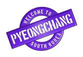 WELCOME TO Pyeongchang — ストック写真