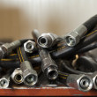 Hydraulic hoses — Stock Photo