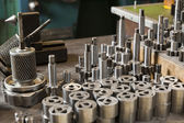 Metal parts of hydraulic machines — Stock Photo
