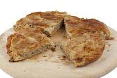 Pie on plate — Stock Photo