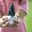 Family decorating Christmas tree — Stock Photo #13866781