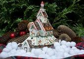 Typische ferienhaus norwegen weihnachten — Stockfoto