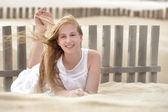 Portrait of a cute young teen laughing and smiling — Stock Photo