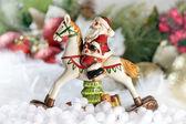 Santa riding a horse — Stockfoto