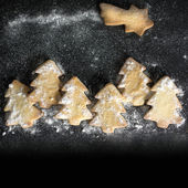 Cookie Christmas trees — Stock Photo