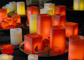 Relaxation candles — Stock Photo