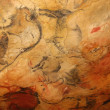 Prehistoric bison in the Altamira caves — Stock Photo