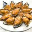 Steamed mussels in creamy tomato — Stock Photo #37878023