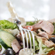 Stock Photo: Salad with fork