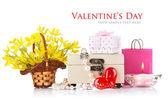 Conceito de dia dos namorados com presentes e flores — Foto Stock