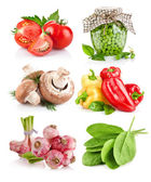 Set vegetable with green leaves — Stock Photo
