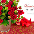Red roses with green leaves — Stock Photo #33921553