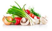 Свежие овощи с зеленью — Стоковое фото