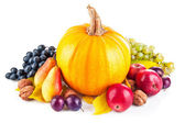 Autumnal harvest fruits and vegetables — Stock Photo