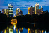 Atlanta midtown skyline — Stock Photo