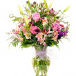 Colorful florist-made floral flower arrangement bouquet — Stock Photo