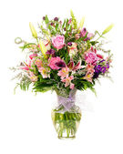 Colorful florist-made floral flower arrangement bouquet — Stock Photo