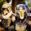 ATLANTA - Sept. 1: A Star Wars fan dressed as Boba Fett marches in the annual DragonCon parade on Sept. 1, 2012. DragonCon bills itself as the largest Sci-Fi convention in the world. - Stock Photo
