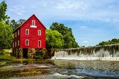 мельница старра, исторической вехой около атланте, штат джорджия — Стоковое фото