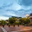 Panoramic view of town square in Dallas, Georgia, after sunset — Stock Photo #25600175