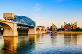 Downtown Chattanooga, Tennessee at dusk — Stock Photo