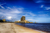 Biloxi, Mississippi, casinos and buildings along Gulf Coast shore — Stock Photo