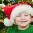 Christmas portrait of happy child — Stock Photo