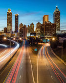 Atlanta downtown skyline during twilight blue hour — Stock Photo