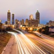 Stock Photo: Atlanta downtown skyline during dusk