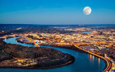 Chattanooga downtown at night as seen from Lookout Mountain — Stock Photo