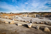 Rock quarry scene in Georgia — Stock Photo