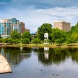 Cityscape scene of downtown Huntsville, Alabama, from Big Spring Park — Stock Photo #47183603